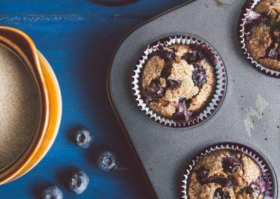 Muffins de Harina de Quinoa y Arándanos