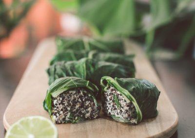 Rollitos de acelga y Quinoa Negra