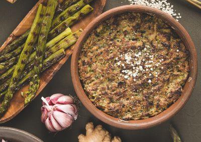 Chupe de Quinoa Laminada y Espárragos